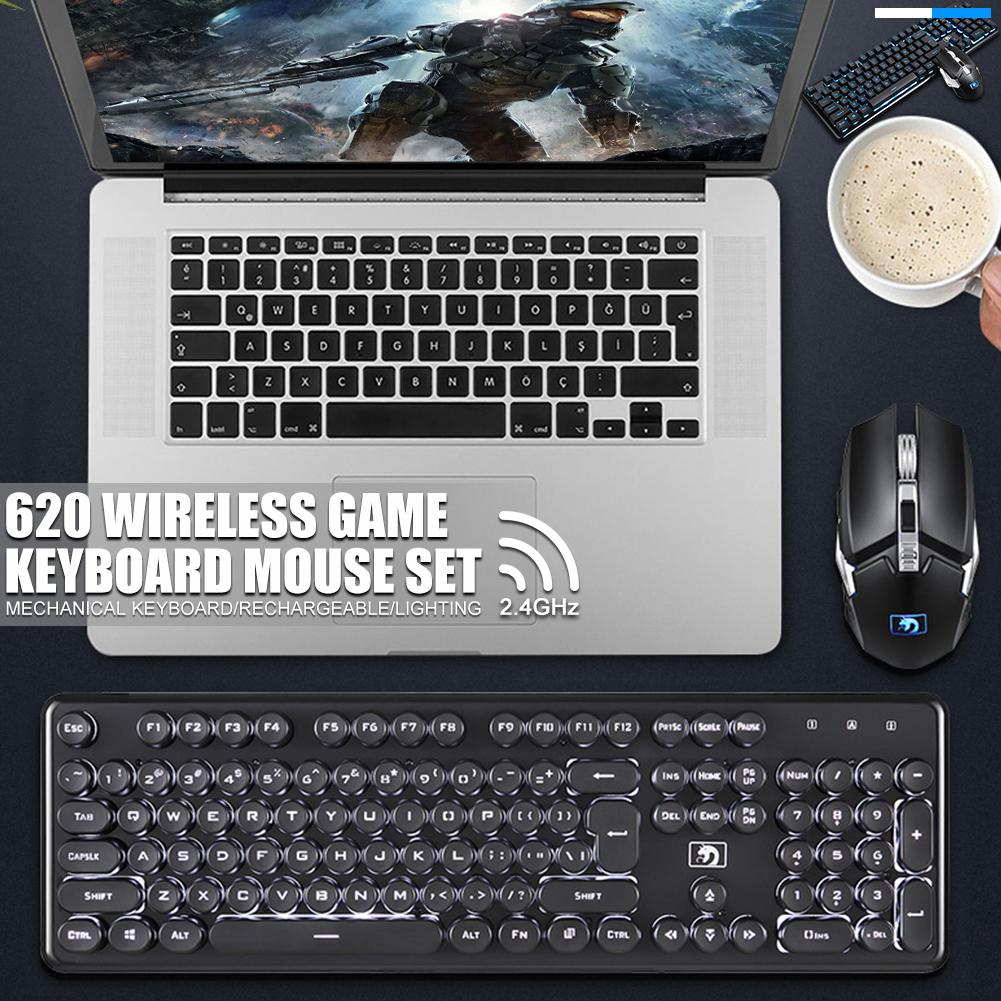 LED Color Wireless Keyboard Top Good and Fancy 2 Pcs #ABTY