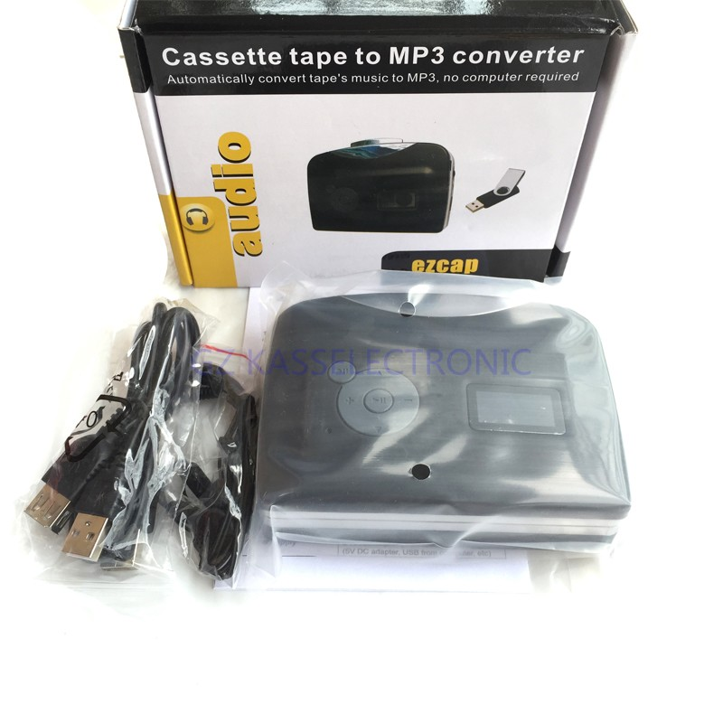 2017 New cassette to mp3 player converter convet cassette to U Flash Disk no PC required Free shipping
