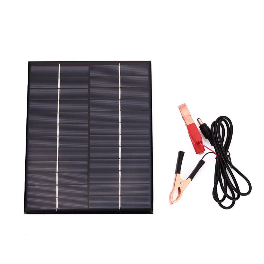 5.5W 12V Solar Panel Battery Charging Board Waterproof Polycrystalline Storge Energy Universal For Boat Car Motorcycles Charger