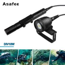 Brinyte DIV10W Split Type Diving Flashlight 6*CREE XM-L2(U4) LED 120 Degree Viewing angle Magnetic Switch Professional Li