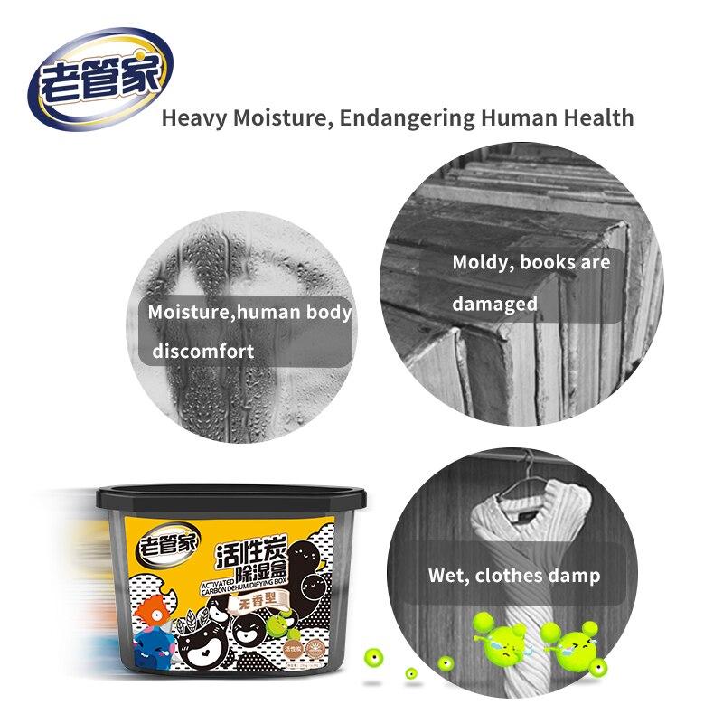 Bambu Deshumidificador Box Refrigerator Room Active Carbon Box Car Moisture-proof Desiccant Dehumidifier Mildew Moisture Proof