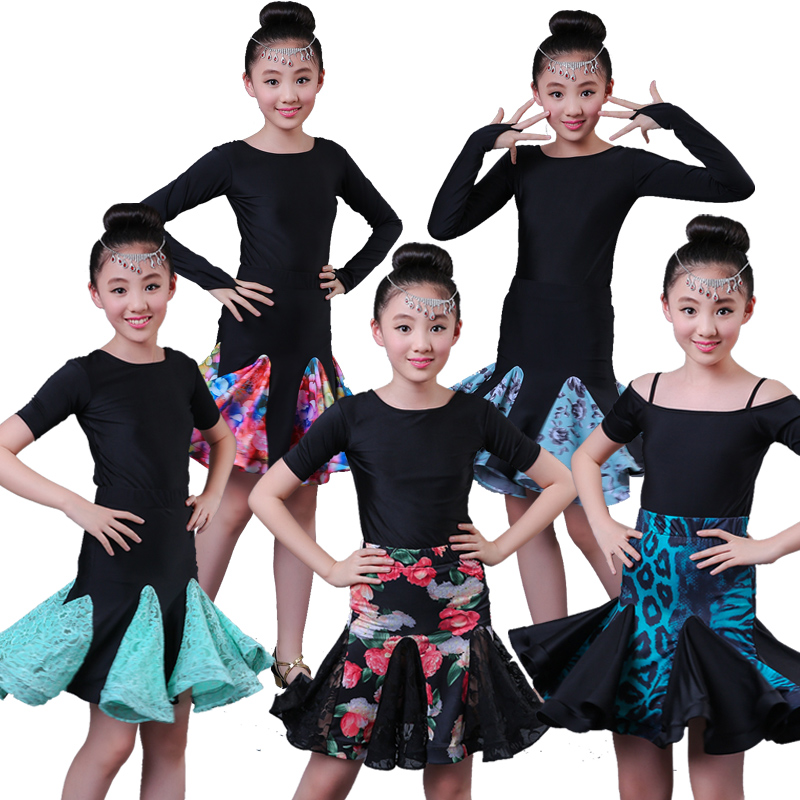 New girls Professional Latin Dance Dress for Girls Ballroom Dance Competition Dresses kids Modern Waltz/tango / Cha Cha Costumes