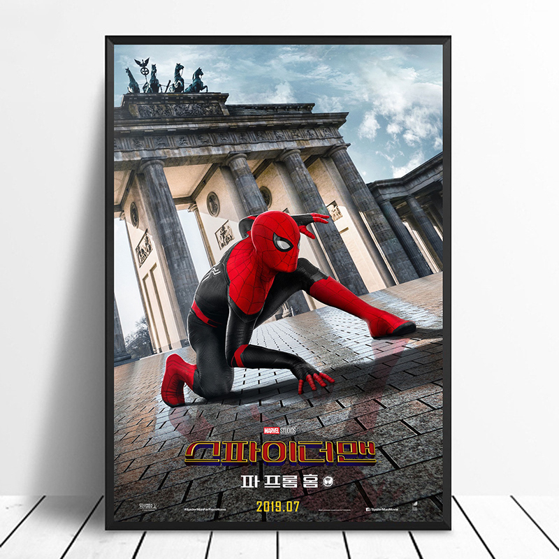 Spider-Man: Far From Home (2019) South Korea Avengers: Endgame iron Man Movie Poster Home Decor Wall Decor Wall Art Canvas Print
