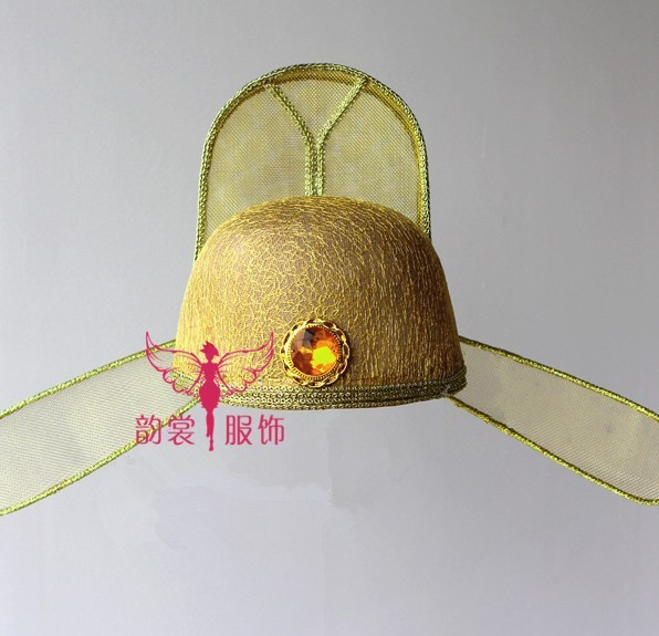 Tang Dynasty Court Officer Hat Poet LiBai or DuFu Hat Male Costume Hair Piece