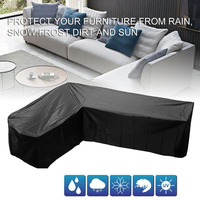 Waterproof L Shape Furniture Cover Garden Rattan Corner Furniture Cover Dust Proof Outdoor Sofa Protect
