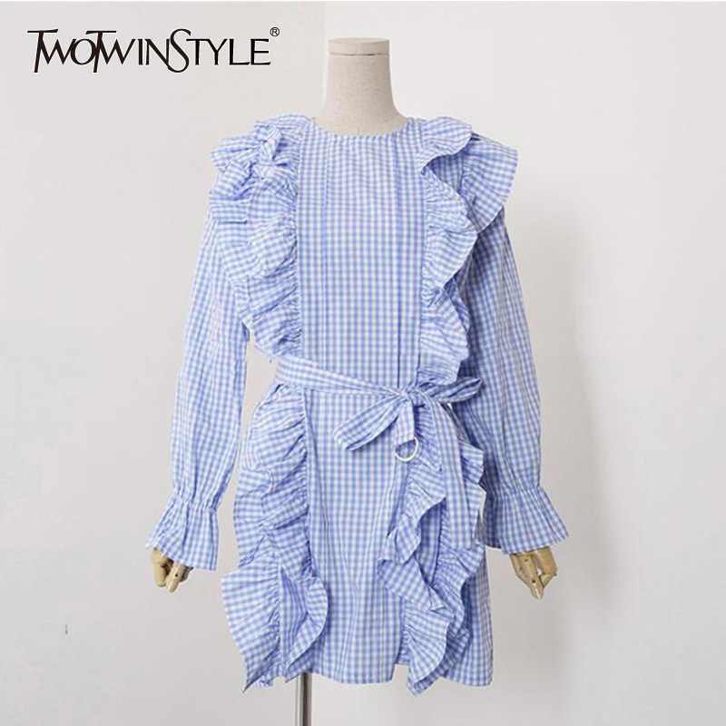 ea763f7124099 Detail Feedback Questions about TWOTWINSTYLE Plaid Tunic Dress For ...