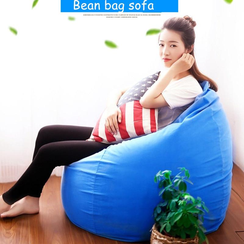 Bean Bag Sofa For Livingroom Bedroom Balcony Tatami Single Window Bean Bag Chair Sunroof Sofa Lazy Beanbag Cover Beds For Kids