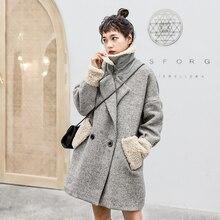 Long femmes manteaux rayé