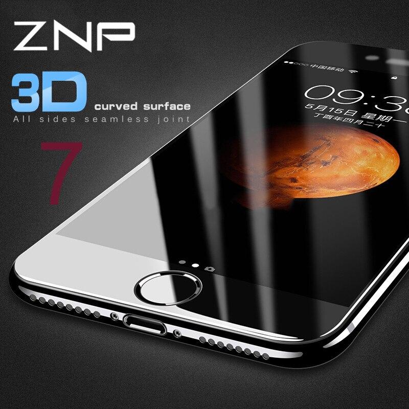 ZNP 3D <font><b>Curved</b></font> <font><b>Soft</b></font> <font><b>edge</b></font> <font><b>Full</b></font> Cover Tempered Glass <font><b>For</b></font> iPhone 8 7 6 Plus 6s Screen Protector <font><b>For</b></font> iPhone 7 6 6s Plus 8 8Plus Glass