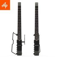 ALP безголовая портативная электрогитара FT 221S Складная Гитара Металлическая гитара Мини гитара