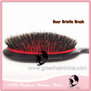 10 Pieces Lot  Boar Bristle Hair Extension Brush. Free Shipping + gift