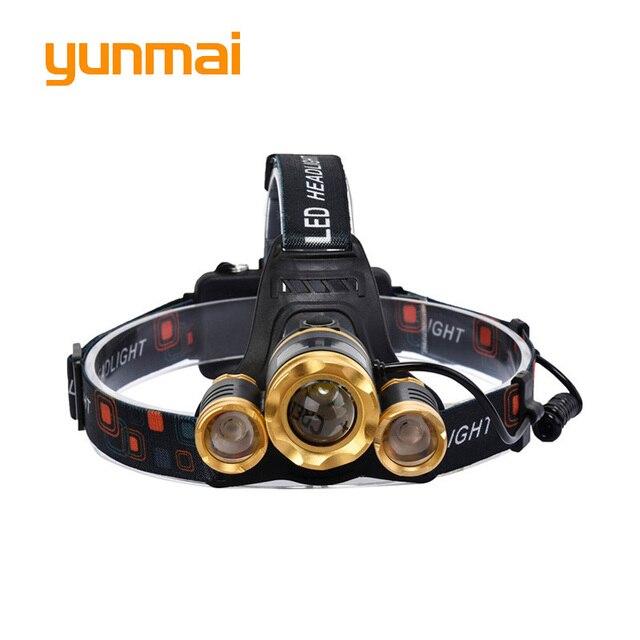 Phare LED Zoom 8000Lm Rechargeable phare lampe de poche tête torche Xml T6 + 2Q5 utiliser 18650 batterie chargeur de voiture lumière de pêche