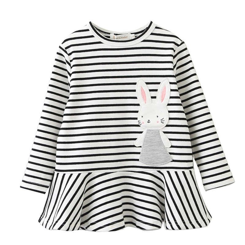 72f7fcfac40fc Girls Spring Dress 2019 Children Rabbit Clothes Long Sleeve Cartoon Cute  Baby Girl Clothes Bunny Print Dress Kids Autumn Clothes