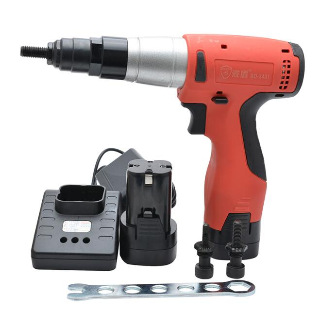 Rechargeable Riveted Nut Gun M6/M8/M10 14.4V Industrial-Grade Electric Pull Gun Easy Riveting Tool BD-3401