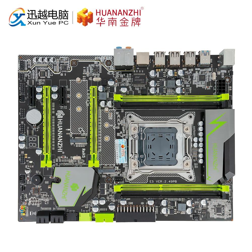HUANAN ZHI X79 EXTREME V 2.49 PB Para Motherboard Intel LGA 2011 E5 2660V2 2680V2 DDR3 1333/1600/ 1866 MHz 64 GB M.2 NVME ATX