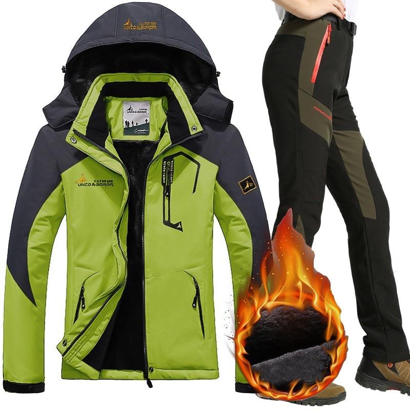 Combinaison de Ski imperméable femme veste de Ski pantalon femme hiver extérieur Ski de montagne neige Snowboard intérieur polaire vestes pantalon