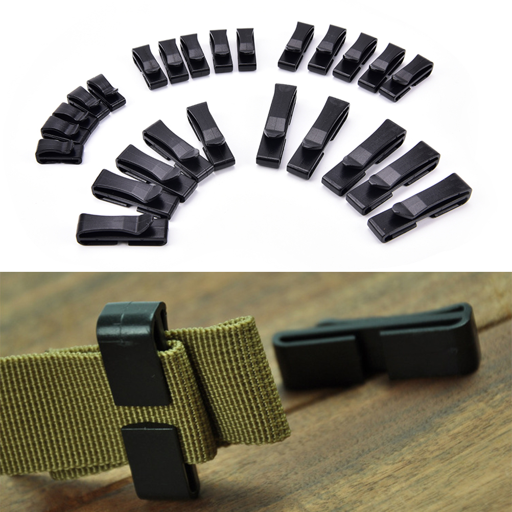 5x 20/25/32/38mm  Attach Molle Webbing Buckle Strap Belt End Clip Adjust Keeper Tactical Backpack Bag Camp Hike Outdoor Military
