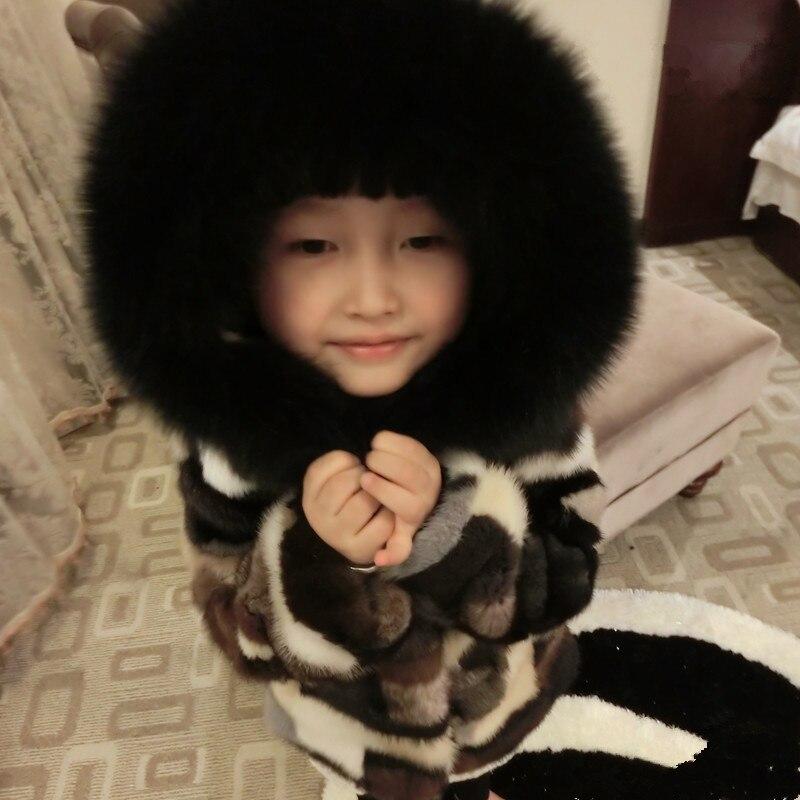 Aliexpress.com : Buy Freezing Winter Kids Real Mink Fur Parkas