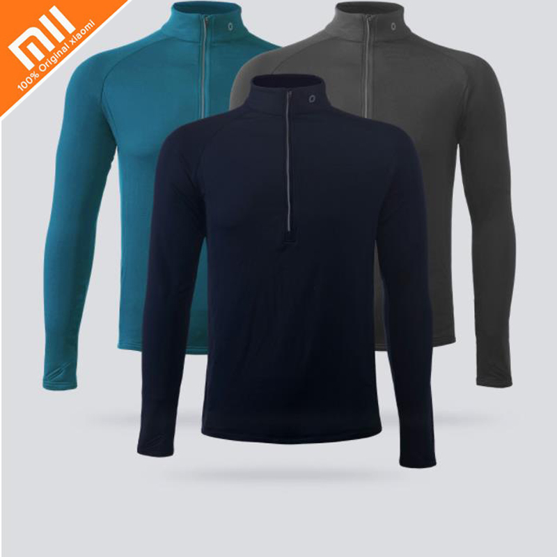 Original xiaomi AMAZFIT single guide wet long-sleeved T-shirt wicking quick-drying comfortable warm men's sports long sleeves stylish shirt collar long sleeves single breasted jumpsuit for women