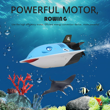 Mini Cute Underwater Sightseeing Model Boat Toy Remote Control Submarine Devil Fish Sightseeing Boat Rechargeable Kids Toys