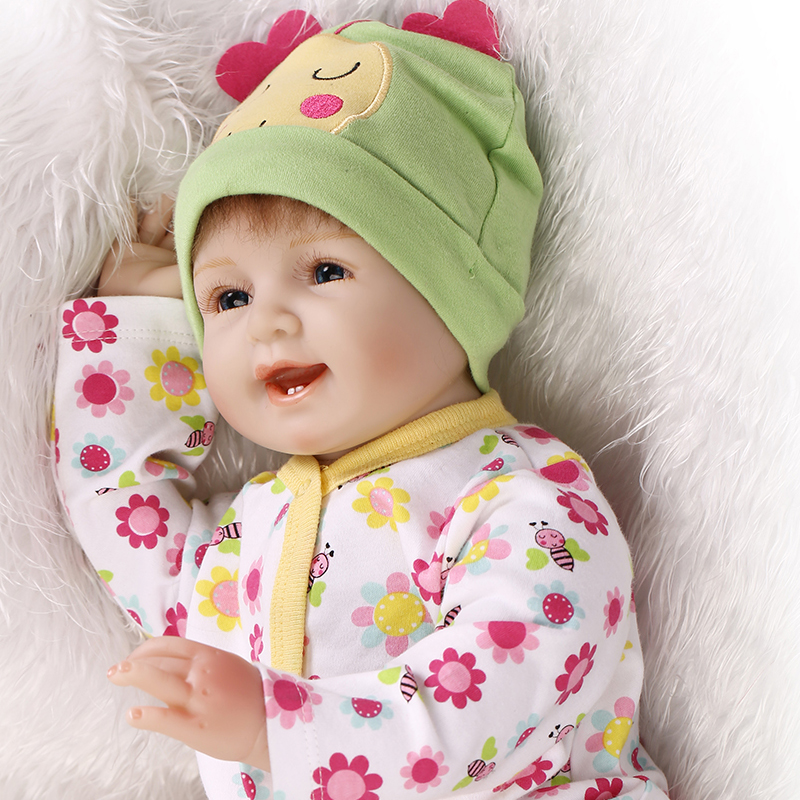 Newest 22 reborn babies dolls smiling new face soft touch silicone reborn dolls girls toys gift bonecas brinquedos Newest 22 reborn babies dolls smiling new face soft touch silicone reborn dolls girls toys gift bonecas brinquedos