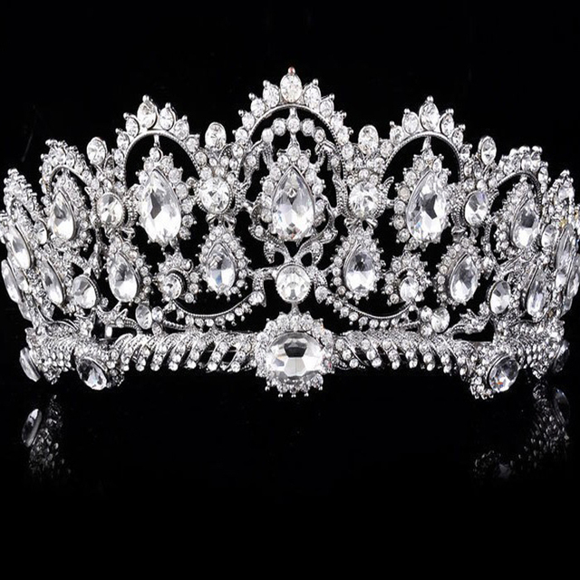 Hot Selling Luxury Wedding Crown Tiara Hair Jewelry Crystal  Headpieces Wedding Hair Accessories Bridal Headband Hairwear