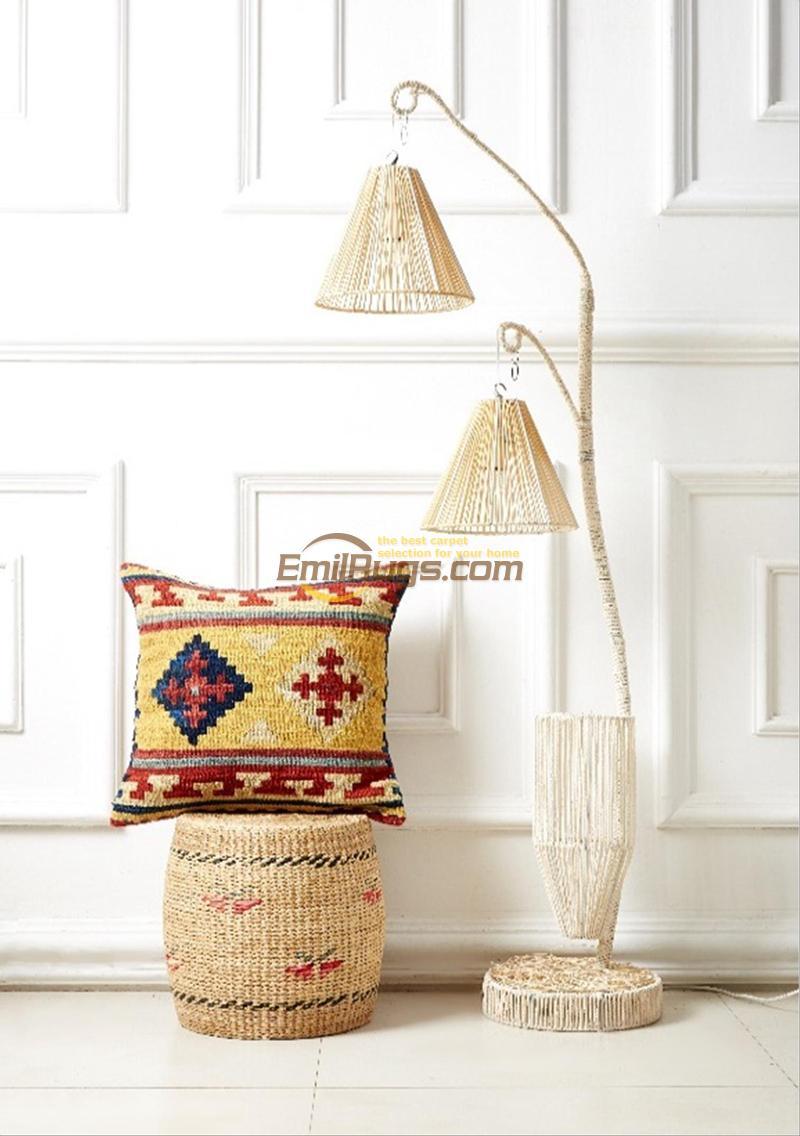 Kilim jaune géométrique vintage comme couvre laine poursuit jaune canapé chaise bureau tricoté coussin décoratif cas SF06gc131yg4