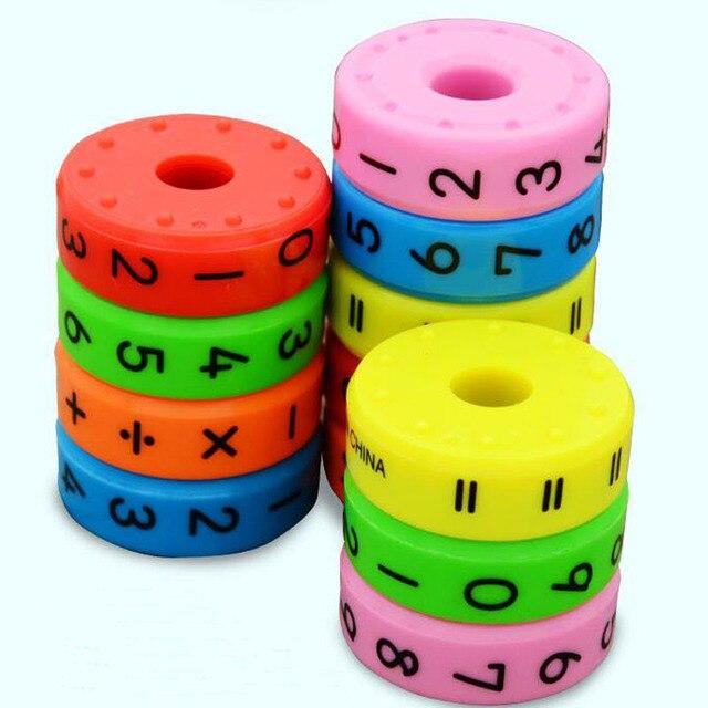 6 piezas magnéticas Montessori niños Juguetes Educativos de plástico para niños números de matemáticas DIY ensamblaje rompecabezas niños niñas