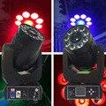 2 шт. цветные dmx светодиодные прожекторы 90 Вт LED Spot gobo + 9x18 Вт RGBWA + UV 6в1 моющаяся движущаяся головка DJ Disco Party сценическое освещение
