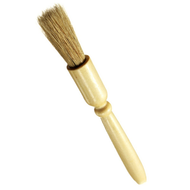 NORBI Kitchenware Wooden Handle Barbecue Brush Pig Hair Brush BBQ Oil Brush with Seasoning Barbecue Outdoor Barbecue Tool