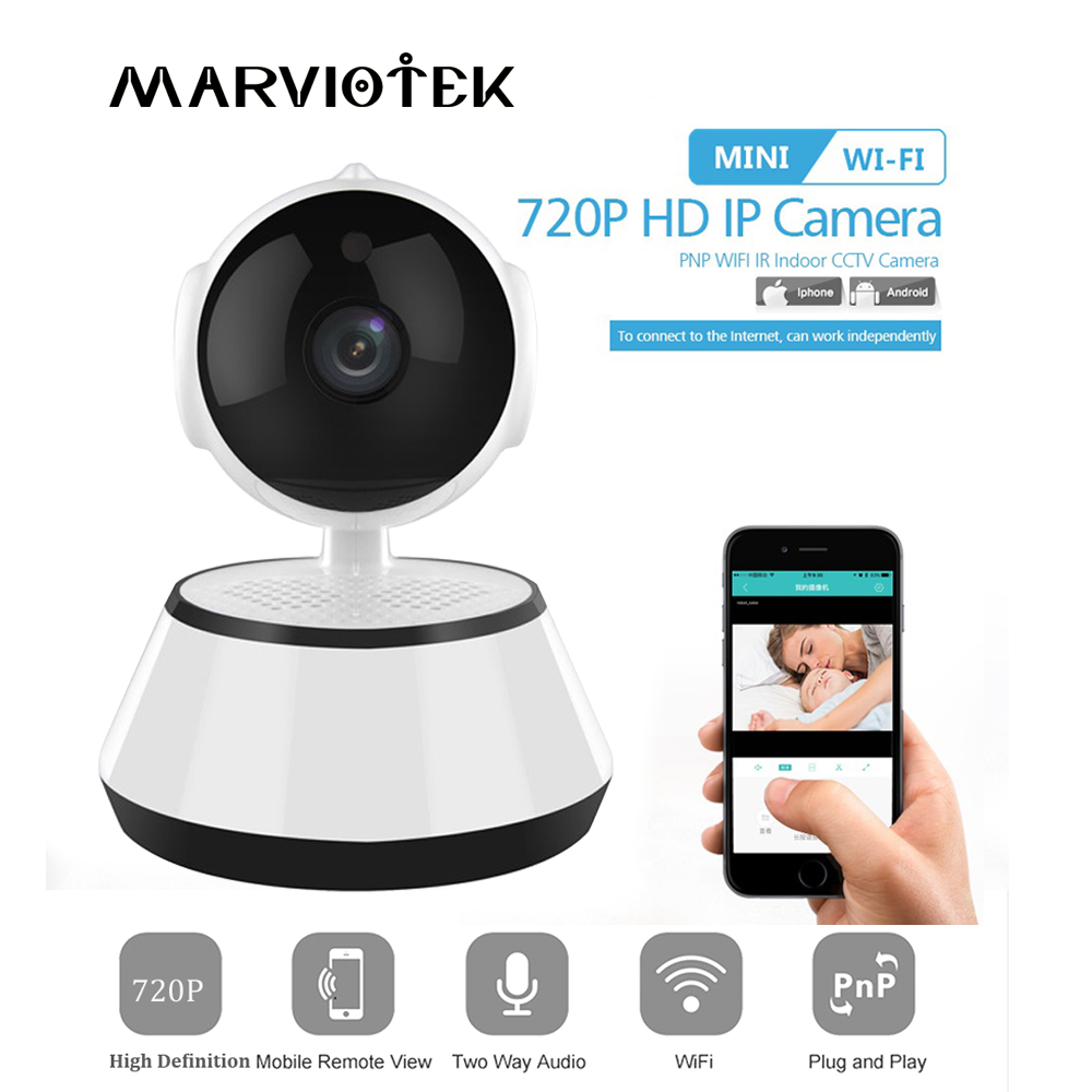 где купить IP Camera WI FI CCTV Camera Home Security Video Surveillance Plug And Play P2P Night Vision Mini Wireless Camera 720P IR Indoor дешево