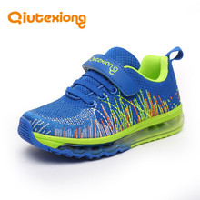 QIUTEXIONG Children Shoes For Boys Sneakers Girls Sport Shoes Air Mesh Anti-Slip Rubber Kids Casual Shoe Running Trainer Sneaker