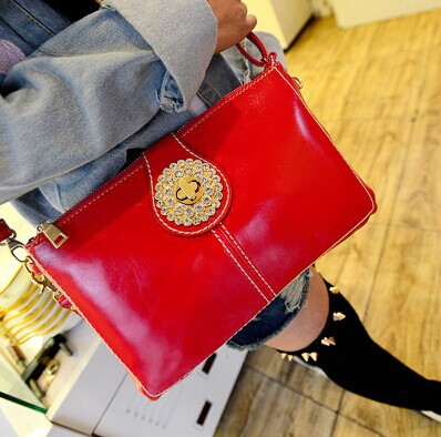 ФОТО 2017 hot sale summer British retro vintage sun lock clutch women handbag shoulder bag diamond PU leather bags messenger bags