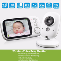 3.2 Inch LCD Display Baby Monitor Home security Wireless Camera Indoor use old people Camera long life battery inside