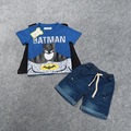 2016 Batman Children's Clothing Sets For Summer Fashion Baby Boy's Set Kids Cotton Cloak Set T-Shirts+Denim Shorts 22