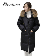 Hot Sale New 2016 Winer Coat For Women Fashion Hooded Womens Long Down Parkas Warm Ladies Down Coat Manteau De Femininos
