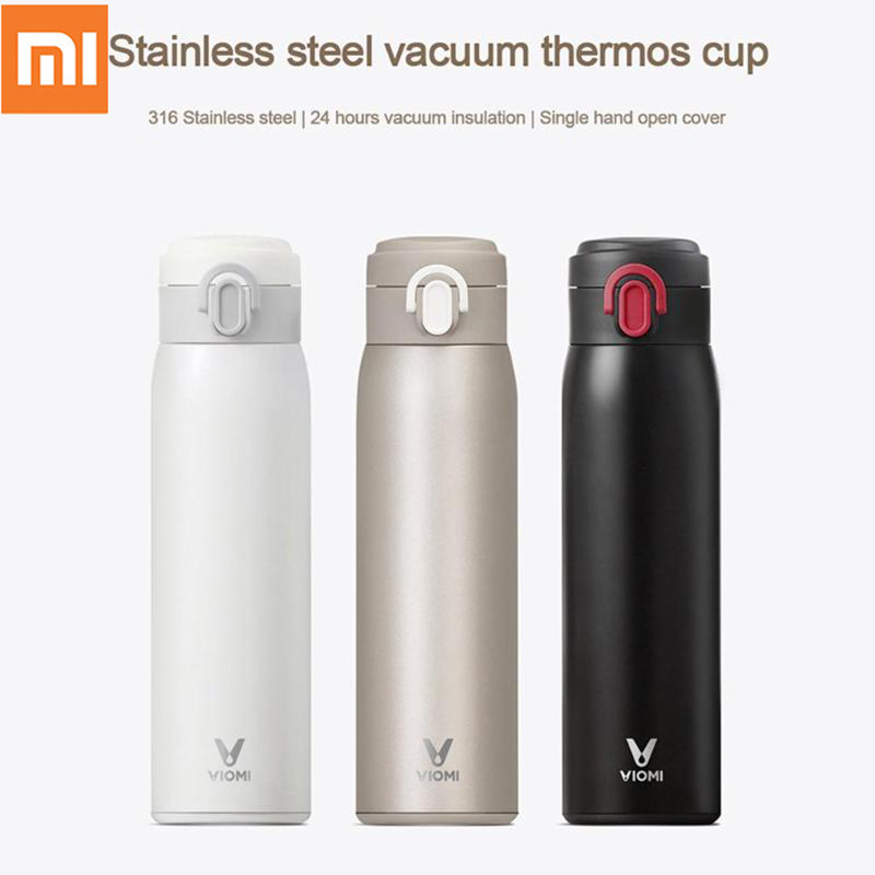 Xiaomi MI Mijia VIOMI Thermos Cup 300ml/460ml Stainless Steel Vacuum Cup 24 Hours Thermos Portable Insulation Water Kettle