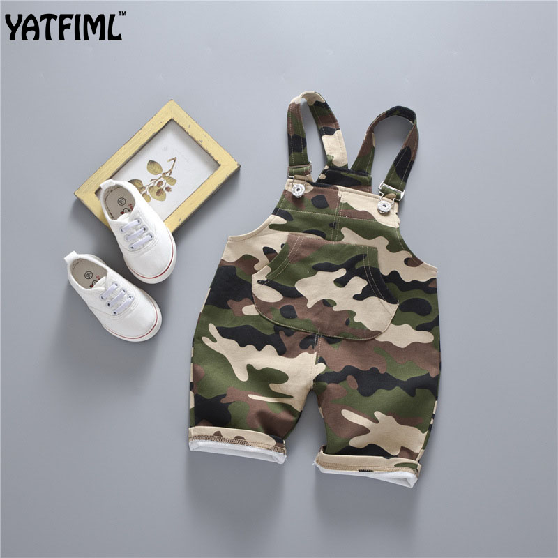 YATFIML 2017 Summer Spring sleeveless clothes toddler ropmer Camouflage clothing Newborn baby boys girls simple striped   romper