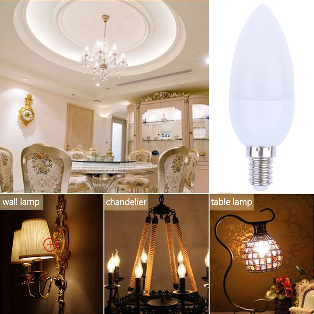 Surprising chandelier light bulbs energy saving photos simple aliexpress com buy 3w 6pcs e14 led candle bulb energy saving chandelier arubaitofo Gallery