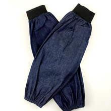 DoreenBeads Хлопок Деним нарукавники защита труда рукав тонкий летнее использование рабочие для мужчин женщин серый синий около 18*37 см 1 пара