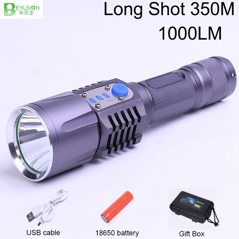 Led Lighting Initiative 1xusb Rechargeable Led Flashlights Long Shot 350m Torch Adjustable Focus Aluminium Alloy Super Flashlight Lampe Torche
