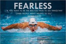 michael phelps Motivational Quotes sports Art Wall Decor Silk Print Poster