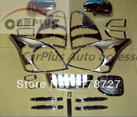 Livraison gratuite couvercle chromé pour Prado Toyota FJ120 2003-2005 prado fj120 kit chromé ensemble complet couvercle de la poignée de la lampe