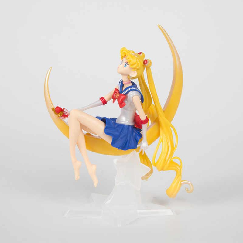 أنيمي بحار القمر Tsukino PVC ألعاب شخصيات الحركة كعكة الديكور جمع لعبة مجسمة دمية الفتيات الهدايا