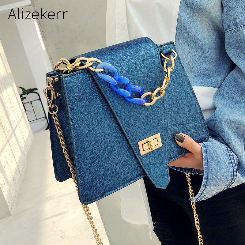 Acrylic Chain Shoulder Bags Women Famous Brand Individuality Designer Women Bags Female Acrylic Shoulder Strap Messenger Bags