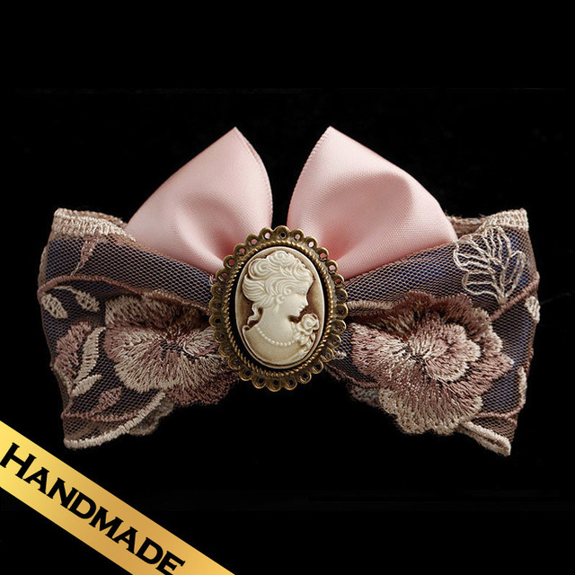 Special Hair Accessories Bud Silk Acrylic Western Handmade Vintage Style Romantic Bowknot Hairpin Free Shipping JewelryFS13A0402