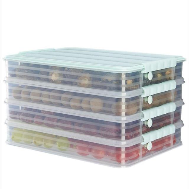 Яйцо рыбы пельменей ящик для хранения кухонный пищевой контейнер держать еда s свежий органайзер для холодильника кухня больше слоев коробка для хранения
