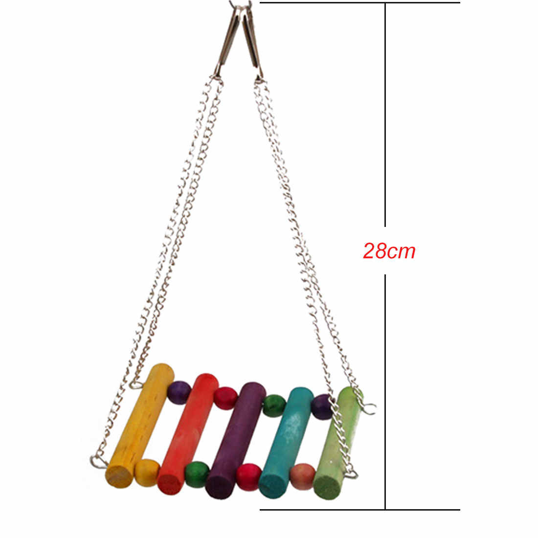 6Pcs/set Bird Parrot Toy Metal Rope Hanging Bell Pet Bird Budgie Cockatiel Cage Hammock Swing Toy Parrot Macaw