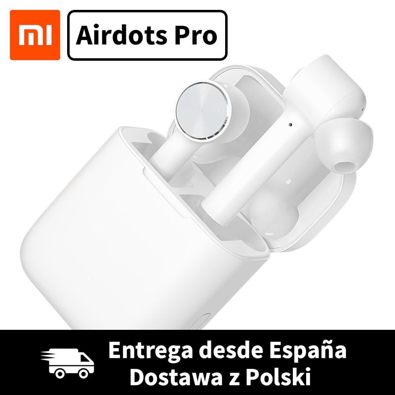 Xiao mi Airdots Pro mi Luft TWS Drahtlose Kopfhörer Bluetooth Headset ANC Noice Cancelling Schalter Auto Pause Tap Control