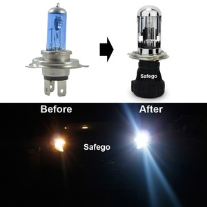 Image 2 - Safego bi xenon H4 bi xenon bulb 35w H4 3 HID BIXENON REPLACEMENT Headlight Hi/Lo Bulbs 4300K 6000K 8000K with Relay Harnes